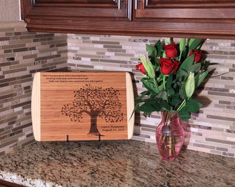 Personalized Cutting Board, Wedding, Anniversary, Housewarming gift, Birthday,Bamboo, Laser Engraved