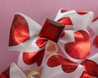 Dog Bows//Valentine's Dog Bows//Valentine's Day//Bows for Dogs//Dog Hair Accessories//FREE SHIPPING