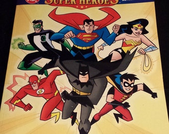 Vintage 1990's DC Comics Super Heroes Super Jumbo Coloring & Activity Book