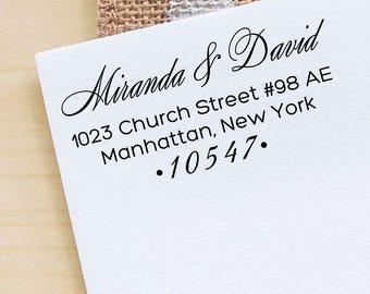 Custom Return Address Stamp, Self Inking Address Stamp, Custom Rubber Stamp, Personalized Rubber Stamp, Custom Calligraphy Stamp HS227P