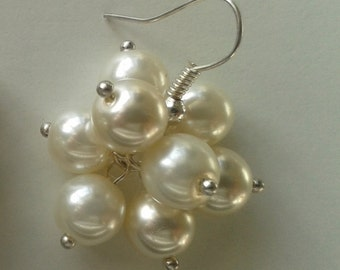 Sparkling White Pearl Cluster