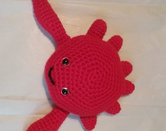 Crocheted Sea Creature Stuffed Animals, Octopus or Crab