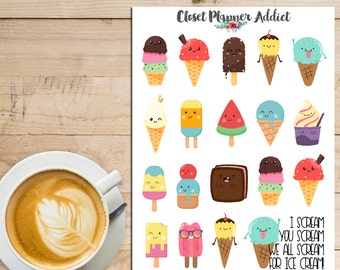 We All Scream For Ice Cream! Planner Stickers (S-192)