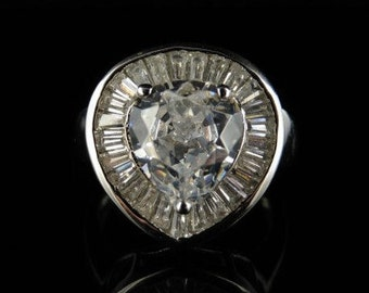 Antique Paste and Silver Ring 3ct