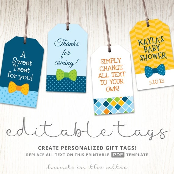 Baby Boy Gift Tags : Baby boy gift tags favor template printable cutouts