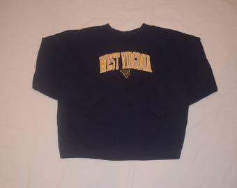 Vintage West Virginia University Mountaineers Crewneck Sweater SZ XL