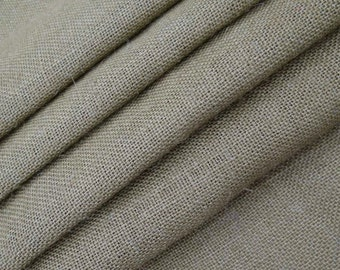 """Grey Jute Fabric, Natural Fabric, Grey Burlap, Rustic Decor Fabric, Sewing Accessories, 52"""" Inch Wide Jute Fabric By The Yard ZJC1M"""