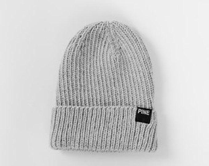 Grey Cozy-Knit Beanie
