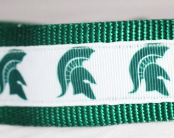 "1.5"" Michigan State University Collar with Side Release Buckle (Martingale Option)"