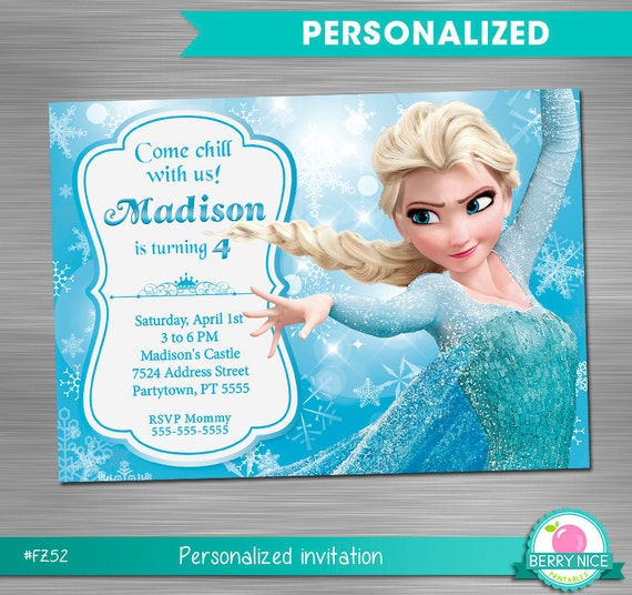 Frozen Party Invitation Print Yourself Frozen Birthday Invitation