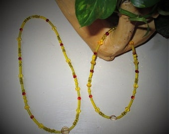 """18"""" ag doll jewelry, doll/child yellow jewelry, yellow doll necklace/matching childs necklace,  or purchase single necklace"""