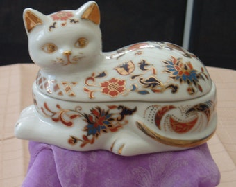 Leonardo Collection Imari Cat Trinket Box