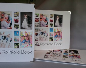 Small Business Portfolio with amendable, laminated pages.