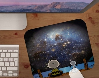 mouse pad,snoopy,charlie brown,peanuts,mouse pads,astronomy,mouse pad,personalized mouse pad,gift under 20,christmas gift,stocking stuffer