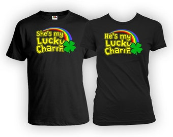 Matching Shirts For Couples His And Hers T Shirts St Patricks Day TShirts Couples Set St Pattys Day Outfit Clover Shamrock MAT-838-839