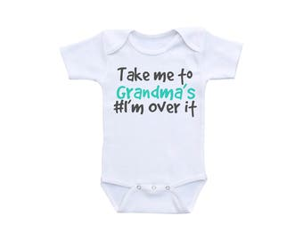 Funny Baby Shirt or Gerber Brand Onesie® Funny Baby Onesies® Grandma Onesies® Funny Baby Clothes Baby Funny Funny Onsie Funny Baby Gifts