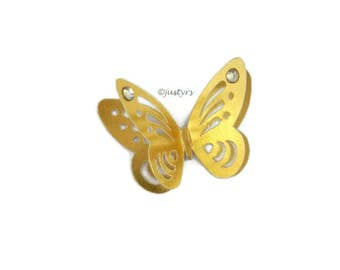 3D Gold Butterfly Rhinestone Confetti, Table Decor, Paper Butterflies, Party Decor, card making, Butterfly cake decor, Baby Shower Decor