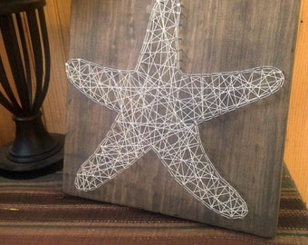 Starfish String Art - Beach Signs - Coast - Home Decor - Rustic Wooden Wall Art - Handmade - Handcrafted