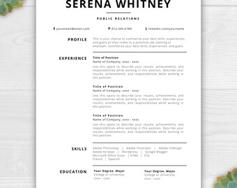 professional cv template word download