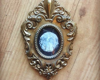 Framed original artwork - Mini broken moon