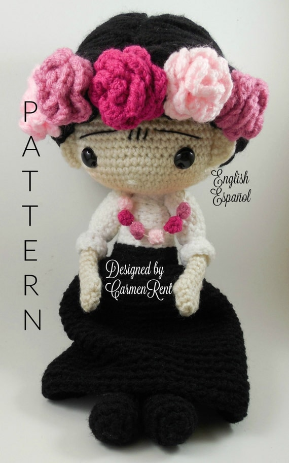 Amigurumi Doll Pdf : Fridacarmen amigurumi doll crochet pattern pdf