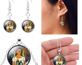 Frida Kahlo Jewellery Set | Earrings and Necklace | 5 Different Options to choose from!