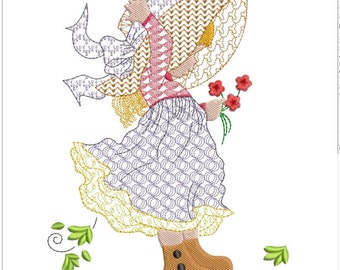 HOLLY HOBBIE in wind machine embroidery download (5x5  6x6  7x7 )