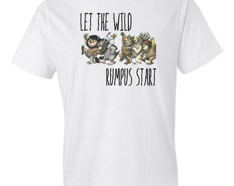 Where The Wild Things Are Shirt - Let The Wild Rumpus Start - I'll Eat You Up I Love You So Shirt - Childrens Book - Matching Birthday Shirt
