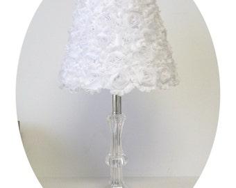 Shabby Chiffon Rosettes Lamp Shades