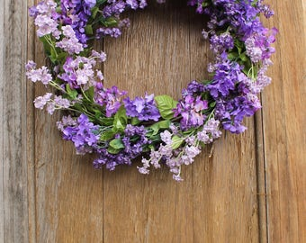 Spring Wreath, Lilac Wreath, Purple Wreath, Floral Wreath, Summer Wreath, Lilac, Front Door Wreath, Front Door Decor, Mother's Day Gift