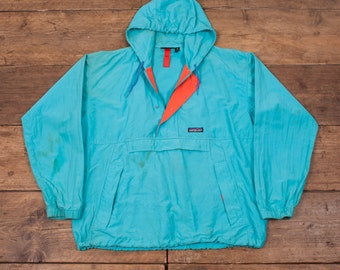 "Mens Patagonia Vintage Retro Snap T Cagoule Casuals Turquoise Blue 44"" L R4048"