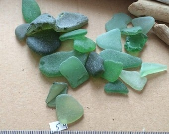 Sea Glass, Green Sea Glass, Large Sea Glass, Beach Glass, Genuine Sea Glass