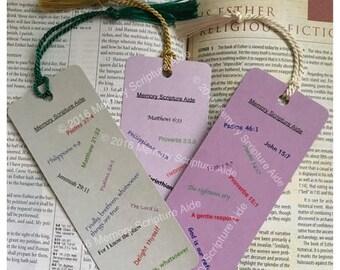 Memory Scripture Bookmarker