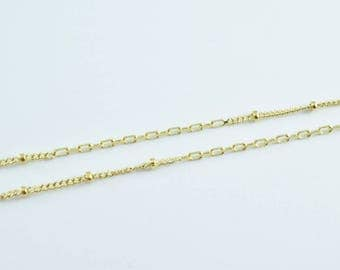 "Gold Filled Saturn Chain link and ball 14Kt Gold Filled Size 18"" Long 2mm Width 0.3mm Thickness Item #CG20"