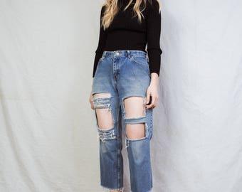 Rad Vintage Black Glitter Ribbed Turtleneck Shirt / S / 90s hipster top shimmery sweater