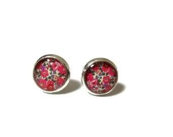 KIDS EARRINGS - Pink Flowers - Girls earrings - Flower girl earrings - Children's earrings - Stud Earrings - Girl's Gift -children's jewelry