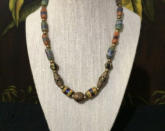 Rustic Beaded Necklace