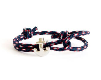 Anchor Bracelet For Men, Outdoor Gift -Climbing Rope Bracelet, Nautical Bracelet