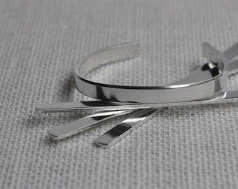 12 1/4' x 5' Children's Bracelet Cuff Blanks 14 Gauge 1100 Food Safe Aluminum- FLAT