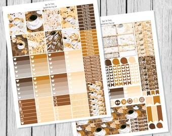 Coffee Planner Sticker Printable / Sticker Printable / Printable Planner Stickers / Weekly Planner Sticker Kit