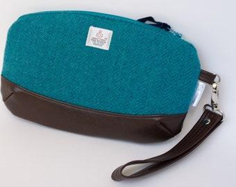 Harris Tweed Clutch Bag // Wristlet Bag