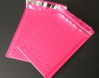 50 6x9 Hot Pink Bubble Mailers Size 0 Self Sealing Shipping Envelopes Valentine Spring Easter