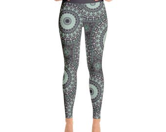 Printed Leggings - Yoga Print Leggings, Ladies Yoga Leggings, Yoga Pants, Fashion Leggings, Womens Stretch Pants