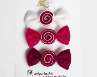 New! Berry | CANDYbow | clips set