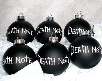 Death Note || Ornament Set || 6 Pieces