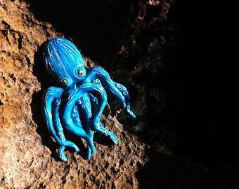 Octopus ceramic decoration   ceramic figure   animal figure   wall decor   home decor   ceramic animal   Sardinia ceramics