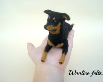 MADE TO ORDER  needle felted Mini Pin