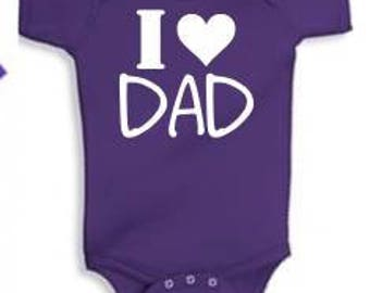 I Love/Heart Dad - INFANT Tees/Raglans - Made to Order