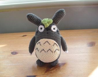 My Neighbor Totoro Anime inspired cute kawaii Amigurumi handmade crochet stuffed plushie toy