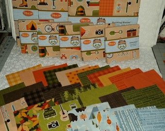 "Camping - 5"" Squares - Patrick Lose Fabrics - Building Blocks - C"